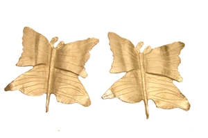 SET OF 2 ALUMINUM BUTTERFLY WALL ART - LARGE
