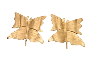 S/2 ALUMINUM BUTTERFLY PLAQUES - MEDIUM