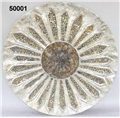 MOSAIC ROSETTE CHARGER ON STAND