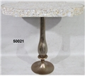 MOTHER OF PEARL PEDESTAL TABLE