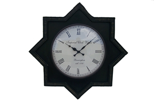 STAR CLOCK - BLACK