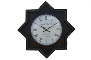 STAR CLOCK - BROWN