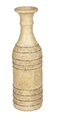 TERRA COTTA BOTTLE VASE CREAM - LARGE