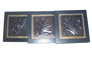 SET OF 3 WOOD PLAQUES