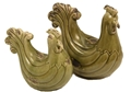 SET OF 2 GREEN ROOSTERS