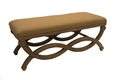 INFINITY BENCH w/ LINEN CUSHION - NATURAL