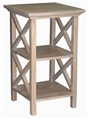 CROSS SIDE END TABLE-NATURAL
