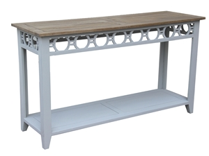 CONSOLE TABLE WITH BOTTOM SHELF