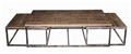 INDUSTRIAL RUSTIC NESTED COFFEE TABLE