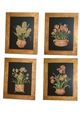 SET OF 4 FLORAL PLAQUES