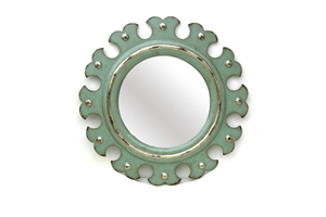 PEARL ON SCALLOP FRAME MIRROR