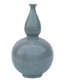 SKY BLUE CLINCHED BULB VASE-LARGE