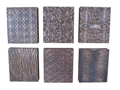 SET OF 6 SQUARE CARVED WALL PANELS