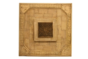 WOOD PANEL-CRM W/ CENTER DECOR