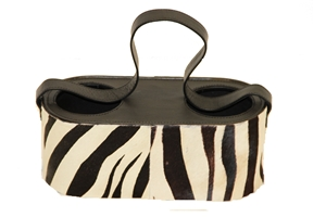 ZEBRA DOUBLE WINE BOTTLE HOLDER