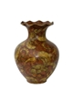 SCALLOP PORCELAIN PAISLEY PAINTED VASE