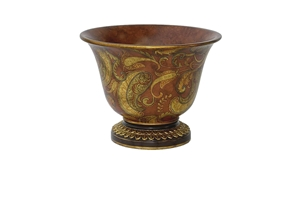 ROUND SCROLL TORTOISE SHELL BOWL