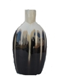 BLACK AND CREAM VASE