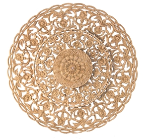 ROUND CARVED WALL PANEL