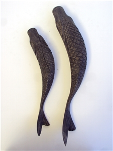 Sturgeon Fish Duo Accents - Distressed Antique