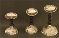 S/3 MADRID FAUX ONYX CANDLE STANDS
