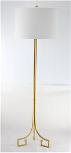 GOLD GREEK KEY BASE FLOOR LAMP
