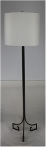 EBONY GREEK KEY BASE FLOOR LAMP