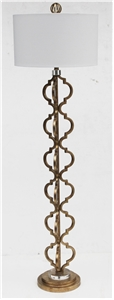 ANTIQUE GOLD INTERLOCKING KEYHOLE FLOOR LAMP