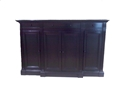 SIDEBOARD BUFFET CONSOLE CABINET - ANTIQUE EBONY