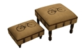 CANVAS STOOL LARGE AND SMALL