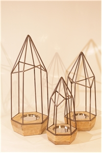 Cathedral  Candle holder Trio