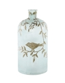 BIRDS & BRANCHES EMBOSSED GLASS BOTTLE