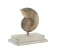 SHELL STATUE WITH CEMENT BASE