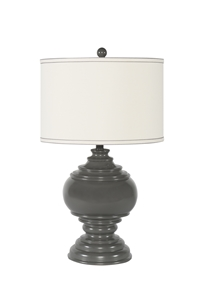 GREY PAWN TABLE LAMP