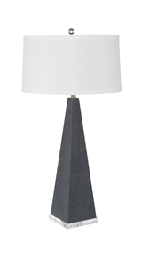 HEXAGONAL SLATE SHAGREEN TABLE LAMP