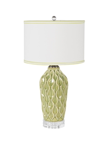 SEA GREEN RIPPLE TABLE LAMP