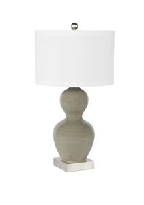 GREY GOURD TABLE LAMP