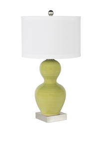 LIME GOURD TABLE LAMP