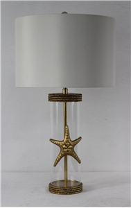 Golden Starfish Table Lamp