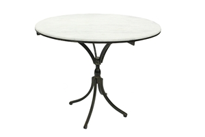 THE VARINA BREAKFAST TABLE with MARBLE TOP