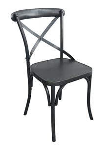 FOUNDRY DINING CHAIR-MATTE BLACK FINISH