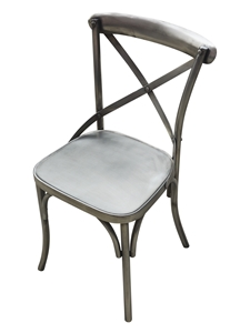 FOUNDRY DINING CHAIR-MATTE NICKEL FINISH