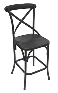 FOUNDRY COUNTER CHAIR-MATTE BLACK FINISH