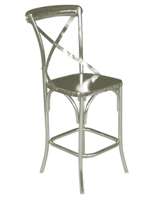 FOUNDRY BAR CHAIR-MATTE NICKEL FINISH