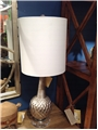 CARVED BULB LAMP-SILVER