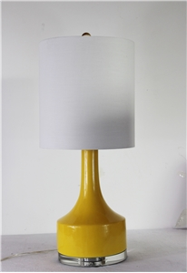 BOTTLENECK MUSTARD YELLOW TABLE LAMP
