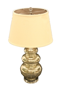 VERNISHED THREE TIER BASE LAMP