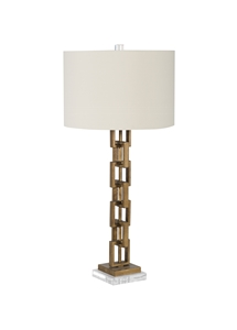GOLD SQUARE LINK TABLE LAMP