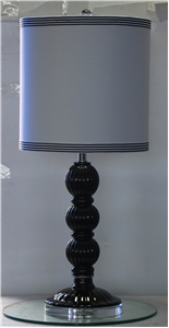 STACKED BALLS MIDNIGHT BLACK TABLE LAMP