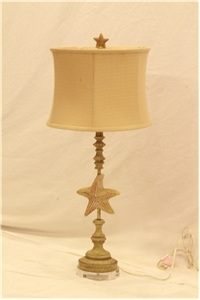 ANTIQUED STARFISH TABLE LAMP